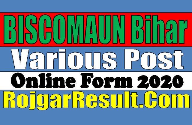 BISCOMAUN Bihar Recruitment 2020