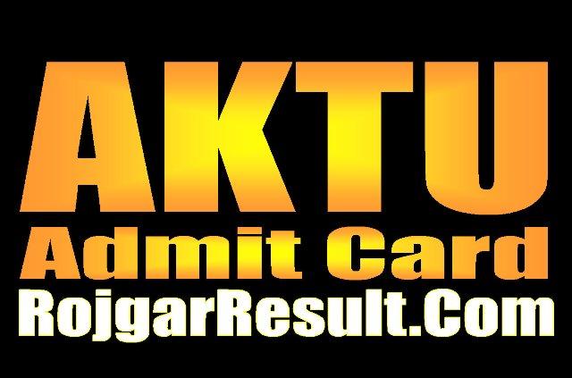 AKTU Admit Card 2020