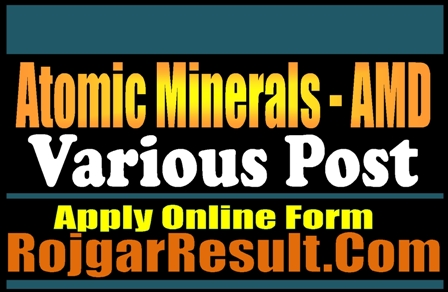 Atomic Minerals Directorate Recruitment 2021 Apply Online Form
