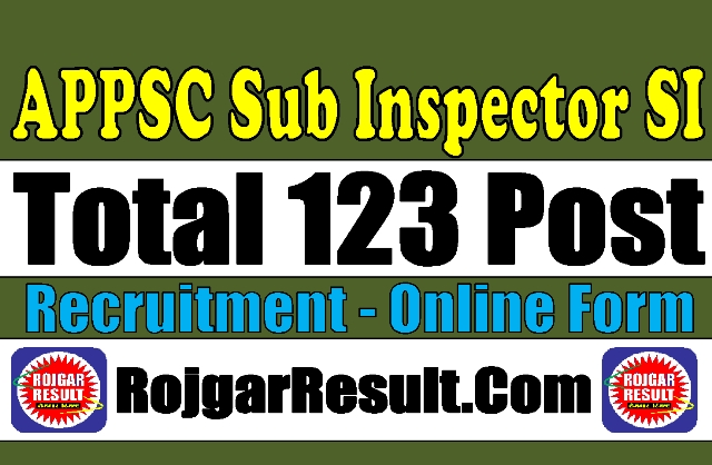 APPSC Sub Inspector Recruitment 2020