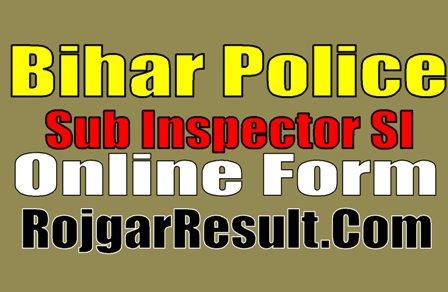 BPSSC Bihar Police SI Sub Inspector, Sergeant Recruitment 2020