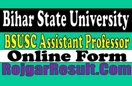 Bihar State University Assistant Professor Recruitment 2020