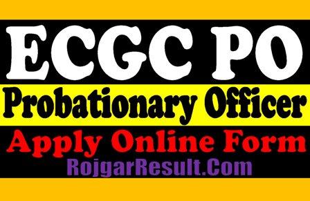 ECGC PO Probationary Officer 2021 Apply Online Form