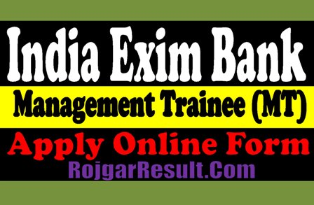 India Exim Bank Recruitment 2020