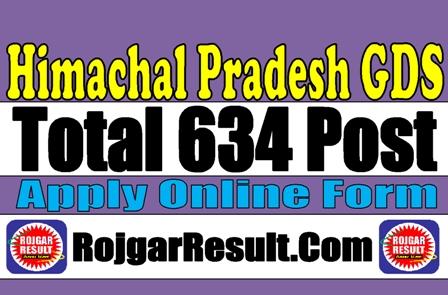 Himachal Prdesh HP GDS Online Form 2020