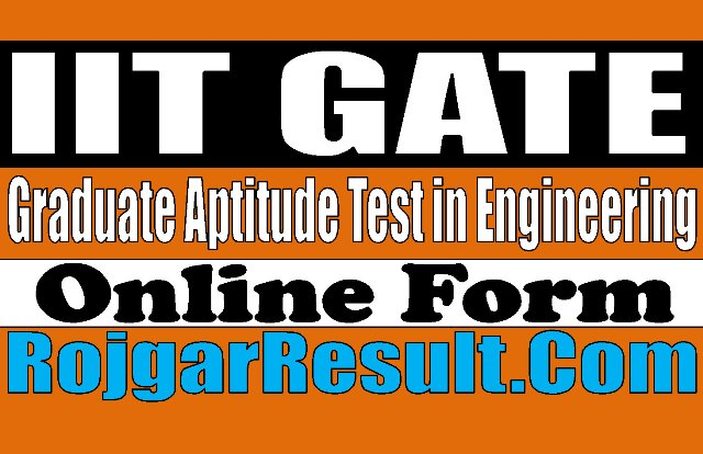 IIT GATE Admission 2021 Apply Online Form