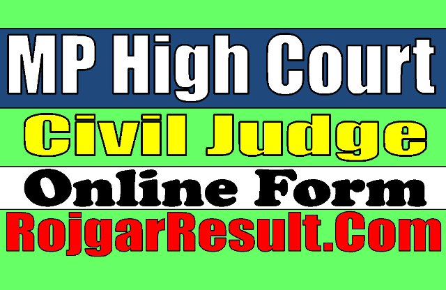 MPHC MP High Court Civil Judge Recruitment 2020