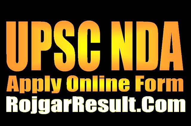 UPSC NDA Recruitment 2021 Apply Online Form