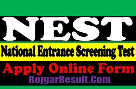 NEST Admission 2021 Apply Online Form