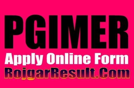 PGIMER JE 2021 Online Form