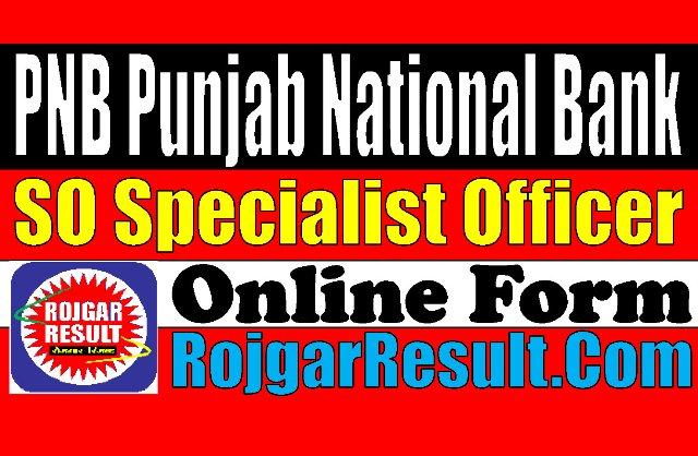 Punjab National Bank PNB SO Recruitment 2021