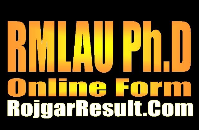 RMLAU PhD Online Form 2021