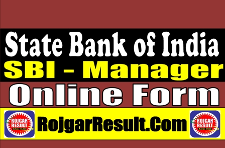 State Bank of India SBI SCO Manager Recruitment 2021 Online Form