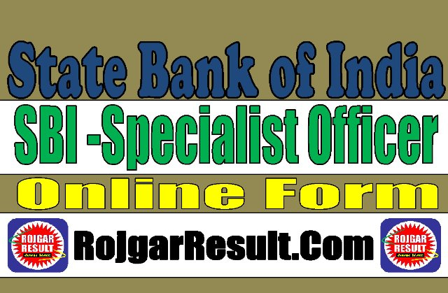 State Bank of India SBI SO Recruitment 2020
