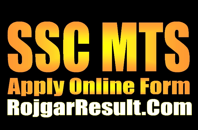 SSC Multitasking Staff MTS 2021 Online Form