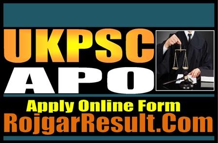 UKPSC Assistant Prosecution Officer APO Recruitment 2021