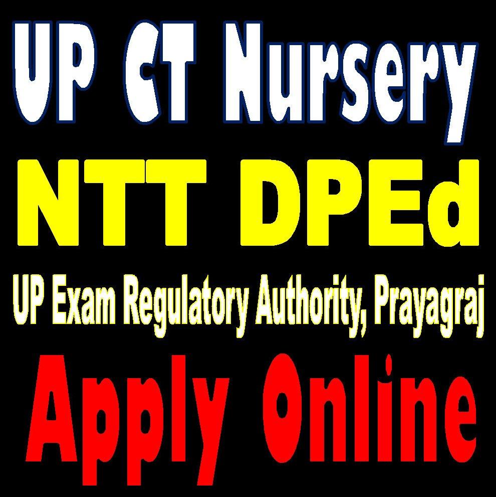 UP CT Nursery NTT DPEd Online Form 2020