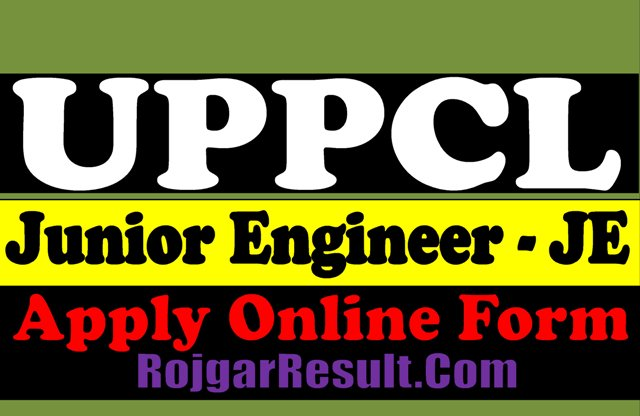 UPPCL Junior Engineer JE Civil 2021 Apply Online Form