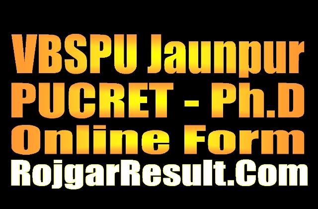 VBSPU PhD Online Form 2021